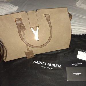 Saint Laurent suede cabas satchel